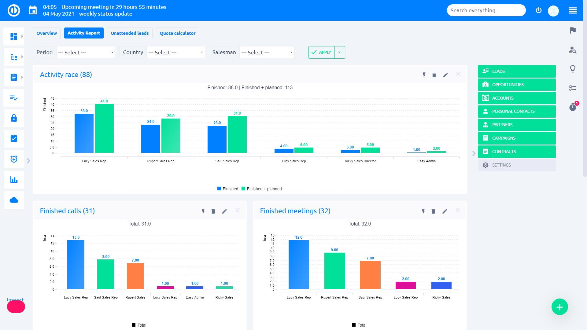 Easy Redmine 2018 - Graphs & charts - sales